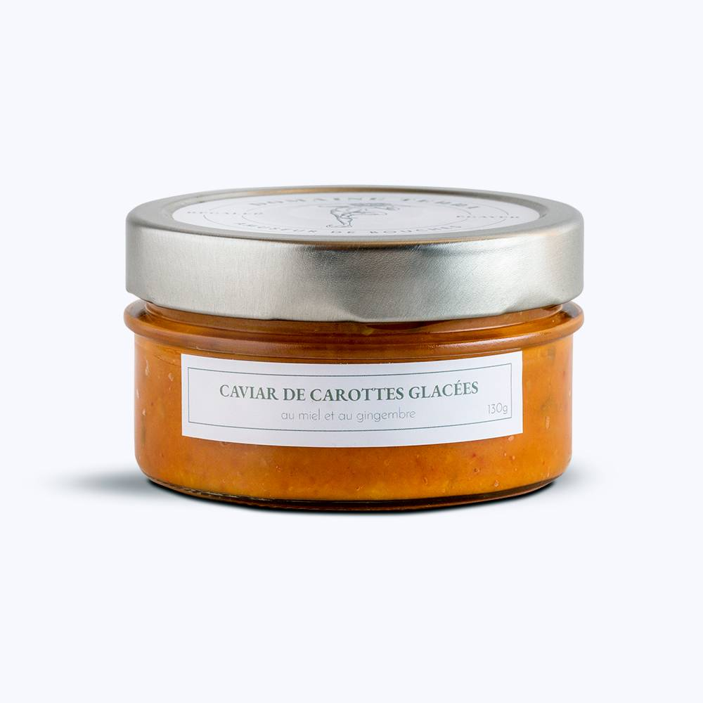 Carottes des sables glacées au miel et au gingembre 130g.